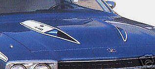 73-74 PLYMOUTH ROAD RUNNER HOOD BULGE STRIPES KIT 1973 1974