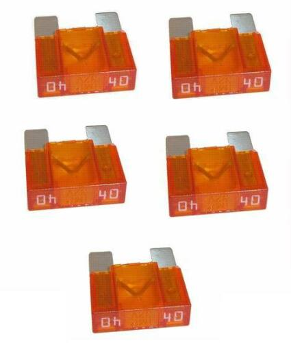 5X Fusible Plano Maxi 40a de Alimentación Vehículo Coche Pies Apx Zeeman