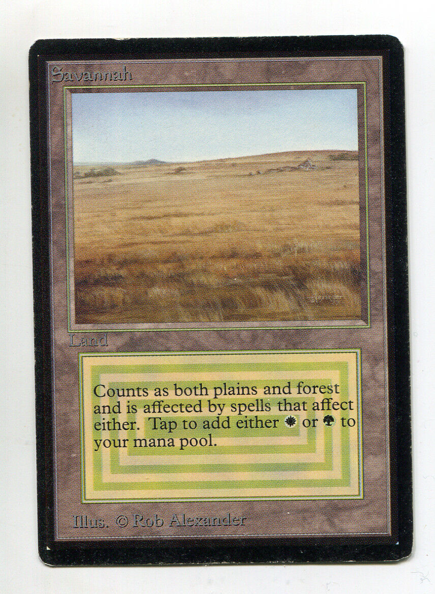 SAVANNAH CE Dual Land Collector's Edition MTG Magic the the the Gathering 26dcab