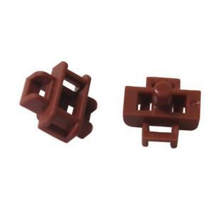New LEGO Creator City Modular Lot of 4 Reddish Brown 2x2 Minifigure Seats Chairs