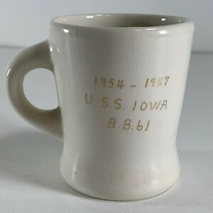 Vintage-USS-Iowa-BB61-1954-1957-Vietnam-War-Era-Mug-US-Navy-Handmade-1973
