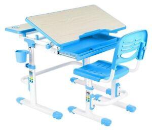 Fun Desk Lavoro Kinderschreibtisch Höhenverstellbar Mit Stuhl Blau