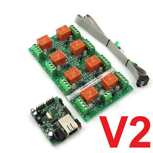 LAN Eight Ethernet Channel Relay Module Board for Remote Control SNMP 8