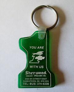Sherwood Chev Saskatoon >> Vintage Sherwood Chev Olds Saskatoon Saskatchewan Keyring Keychain