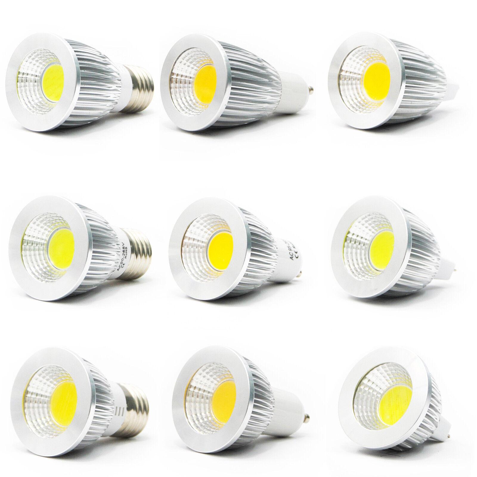 ultra bright mr16 gu10 e27 e12 dimmable led cob spot down light bulb 6w 9w 12w ebay. Black Bedroom Furniture Sets. Home Design Ideas