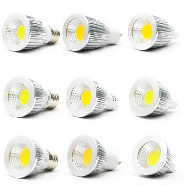 Ultra Bright MR16/GU10/E27/E12 Dimmable CREE LED COB Spot Light Bulbs 6W/9W/12W