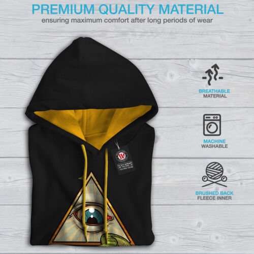 Wellcoda Ape Fashion Mens Contrast Hoodie Eye Triangle Casual Jumper