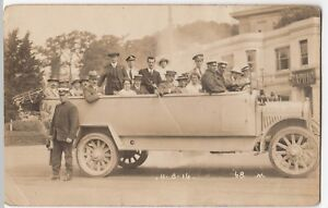 Bournemouth-Royal-Blue-Charabanc-With-Crew-amp-Passengers-RP-PPC-Unused-11-8-16