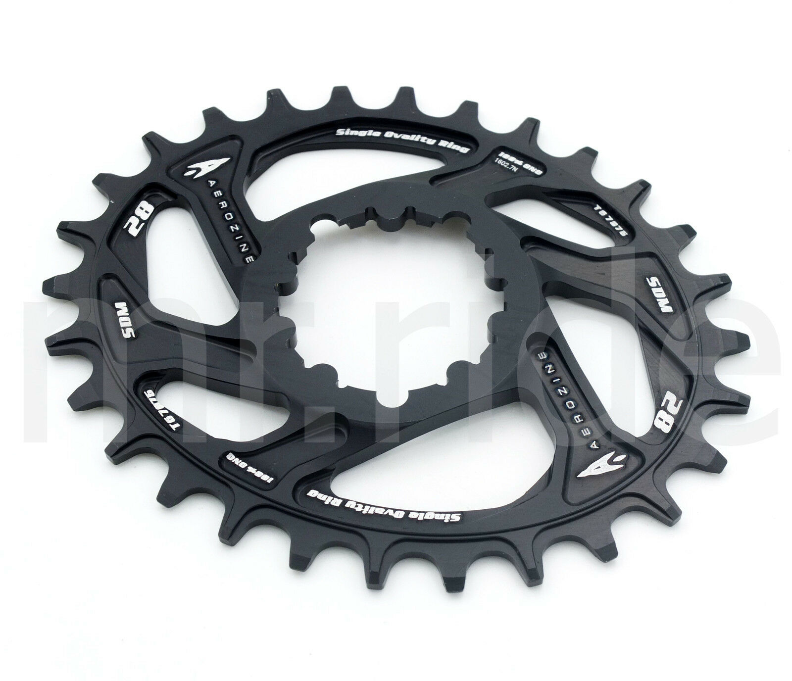 Aerozine Oval Mountain Bike 28T Single Chainring Direct Mount for Sram 11 Speed