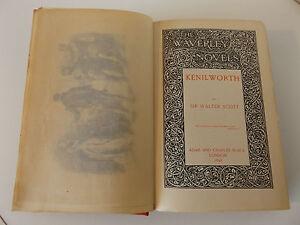 """1896 The Waverley Novels Standard Ed. Vol. XII """"KENILWORTH"""" by Sir Walter Scott"""