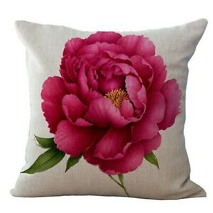 Vintage-Blumen-Blumenflachs-Dekorative-Kissenhuelle-Kissenbezug-Haus-Sofa-D-2I