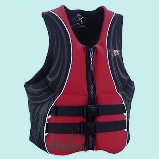HELIUM Axis Neoprene Life Ski Vest Type III PFD Flotation Aid Red Bla NEW Mens S