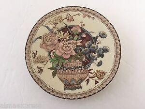 Newport-Pottery-England-Clarice-Cliff-OPHELIA-Brown-6939-TEA-CUP-SAUCER