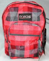 Jansport Trans School Student Backpack Red Plaid With Tags