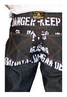 Dissizit Danger 5-pocket Classic Fit Raw Black/indigo Denim Jeans