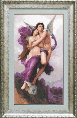 EMBROIDERY KIT COUNTED CROSS STITCH CHARIVNA MIT PICTURE CUPID AND PSYCHE 593