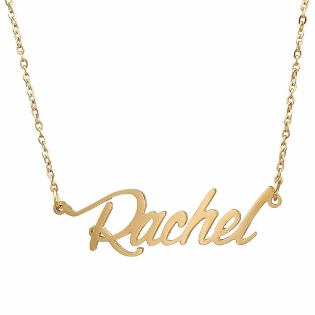 7b8caff44 AOLO Gold Plated Name Necklace Pendant Chain Rachel Free Shipping