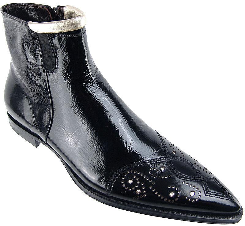 Cesare PACIOTTI Elegante Chelsea botas al Tobillo Zapatos US 6 Diseñador Italiano