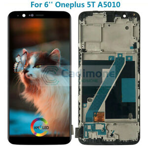 AMOLED-For-Oneplus-5T-A5010-LCD-Display-Touch-Screen-Assembly-Replacement-Frame