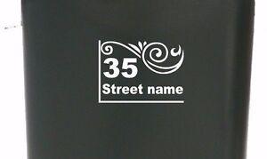 Sticky Self Adhesive Vinyl Wheelie Bin Number /& Street STICKER DECAL DIY Dustbin