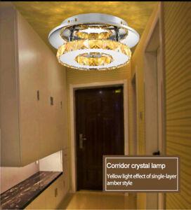 Details zu 12W Kristall Deckenleuchte LED Deckenlampe Schlafzimmer  Wandlampe Dimmbar Lampe