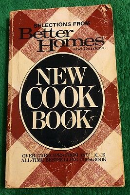 Vintage 1996 Selections From Better Homes & Gardens New Cookbook Book Food Read