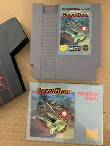 BreakThru Data East 100% Authentic NINTENDO NES GAME Tested WORKING w/ Manual