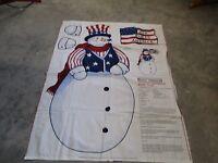 Daisy Kingdom 4726 patriotic Snowman Door Panel Fabric Kit -