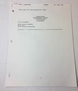 DAWSON-039-S-CREEK-set-used-paperwork-EPISODE-OUTLINE-Season-5-Episode-18