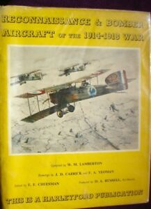 BOOK-MILITARY-FULLY-ILLUSTRATED-RECONNAISSANCE-amp-BOMBER-AIRCRAFT-WW1-1914-1918