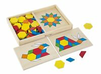 Melissa And Doug Pattern Blocks And Boards, Kids Children Toddler Puzzle, on sale