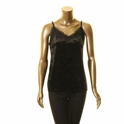 INC NEW Women/'s Velvet Lace-Trim Camisole Blouse Shirt Top TEDO