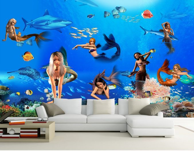 3D Beautiful Girl Sea 11 Paper Wall Print Decal Wall Wall Murals AJ WALLPAPER GB