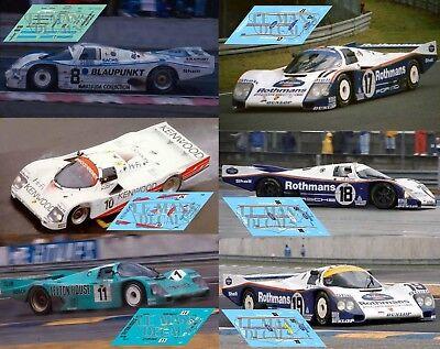 Calcas Porsche 962C Le Mans 1988 72 1:32 1:43 1:24 1:18 962 slot decals