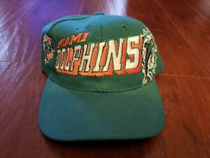 best service 0dcc1 3ce92 Image is loading Vintage-MIAMI-DOLPHINS-90s-Wool-Hat-Cap-Snapback-