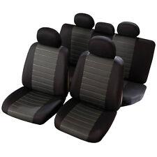 Housses de Siège 1/3 2/3 Noir Gris pour Ford CMax Focus Fusion Mondeo - QD75