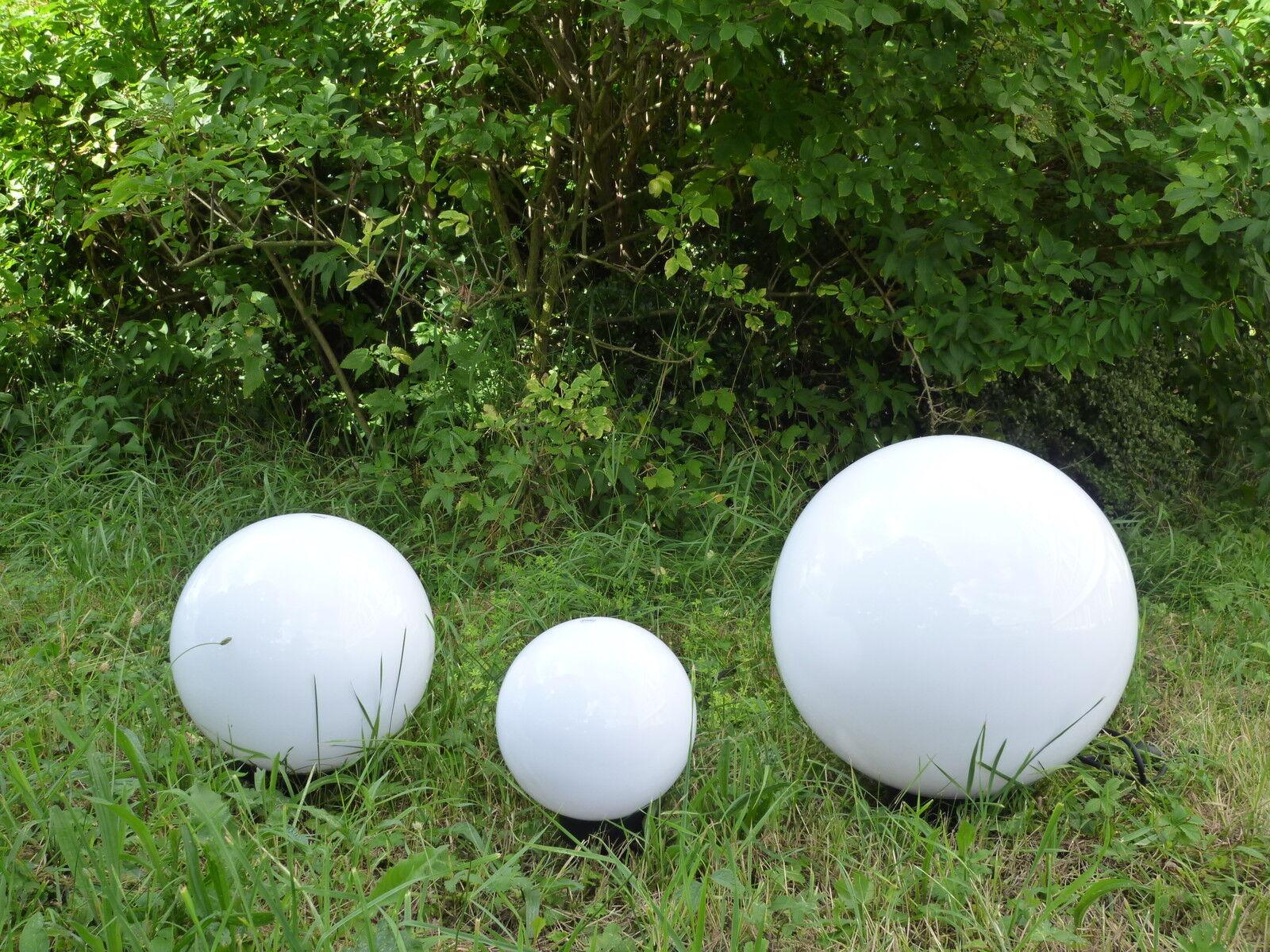 Kugelleuchte Gartenkugel Kugellampe Set MARLON Außen Gartenbeleuchtung mit Strom