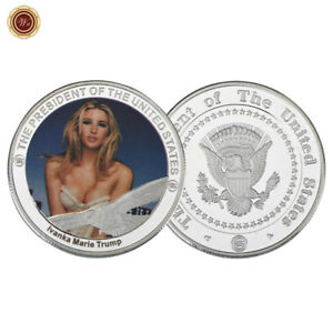 WR-USA-Praesident-Trump-Muenze-Supermodel-Ivanka-Trump-Versilberte-Muenze-Medaille