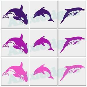 dolphin orca tile stickers bathroom vinyl wall car decal