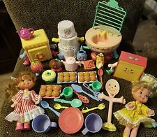 Vintage 1988 Cherry Merry Muffin Dolls And Accessories, Playsets Lot