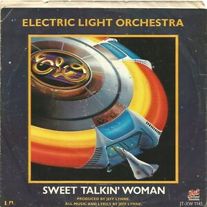 ELO-Sweet-Talkin-039-Woman-USA-mauve-vinyl-single-different-B-side-to-UK-issue