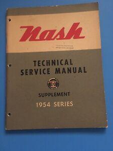 1954-Nash-Technical-Service-Repair-Manual-Supplement-Rambler-Ambassador-OEM