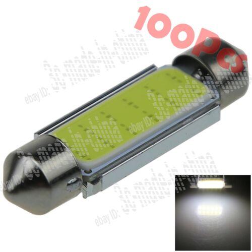 100X White 44MM 45MM 12 Chips COB LED Reading Light Festoon Bulbs Lamp Car ZI352