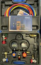 Elitech Dmg 1 Ac Manifold Gauge Set With Hoses Coupler Adapters Amp Carrying Case