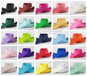 New-10-metres-of-Grosgrain-Ribbon-10mm-16mm-25mm-38mm-Various-Colour-Width