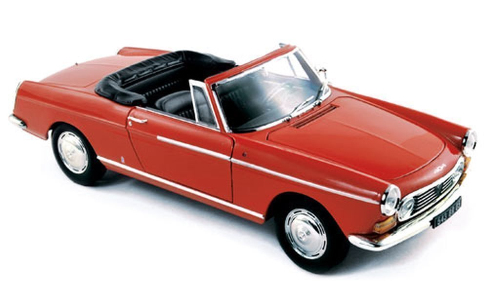 1967 PEUGEOT 404 CABRIOLET CAPANELLE RED 1 18 DIECAST MODEL CAR BY NOREV 184779