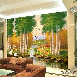 Deer Creek Landscape Full Wall Mural Wall Print Decal Wallpaper Home