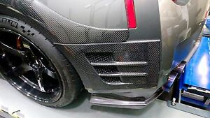 Details about New Top Secret Style Carbon Fiber Rear Fender Ducts Vents for  Nissan GTR R35
