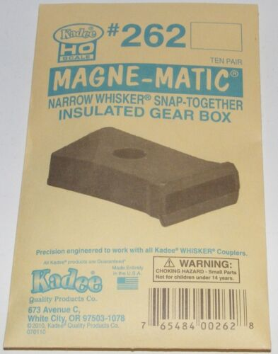 Kadee HO scale # 262 Narrow Whisker Snap Insulated Gear Box ~ 10 Pack ~ New