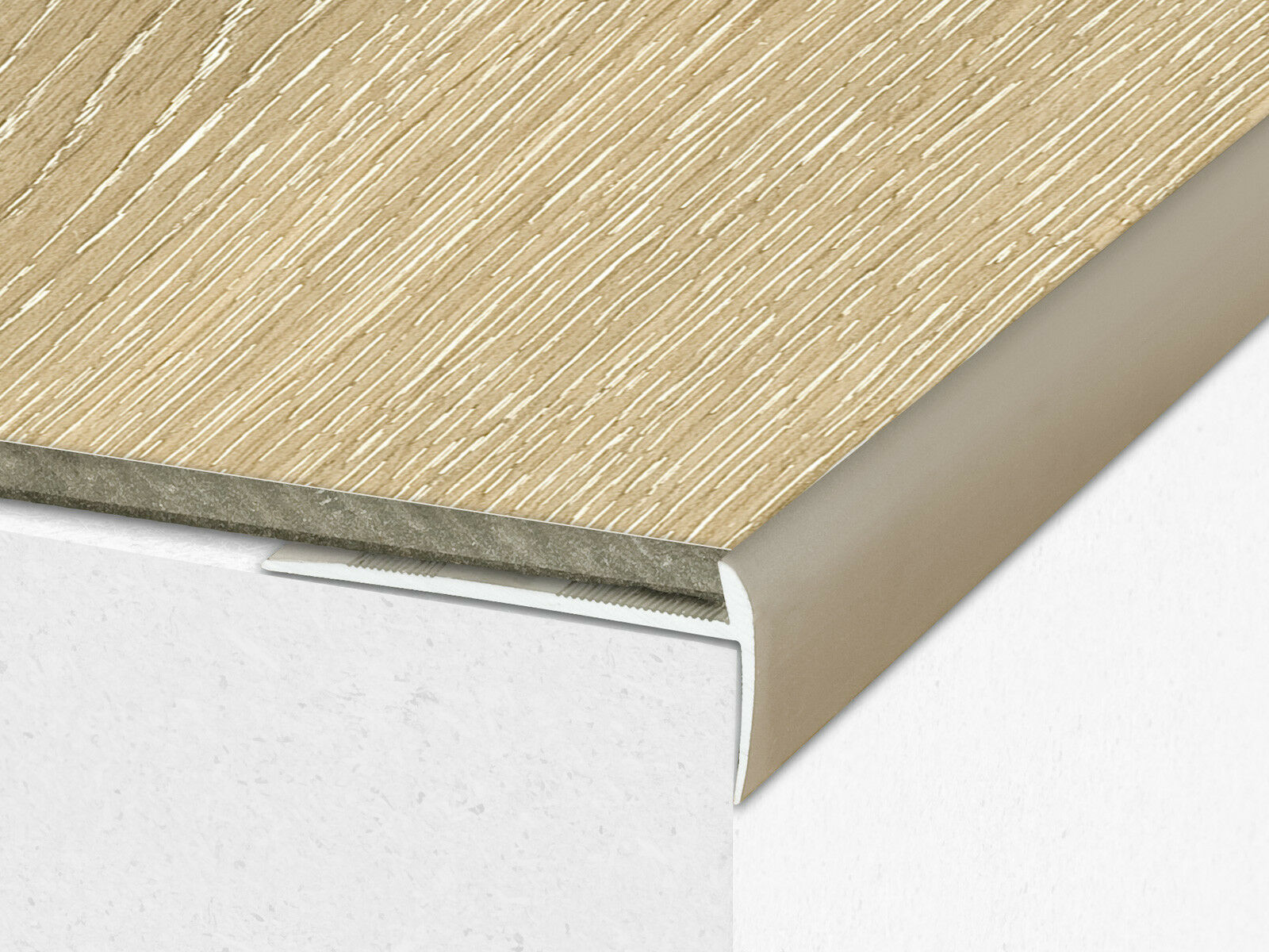 2 7m Luxury Click Vinyl Flooring Stair Nosing Edge Profile